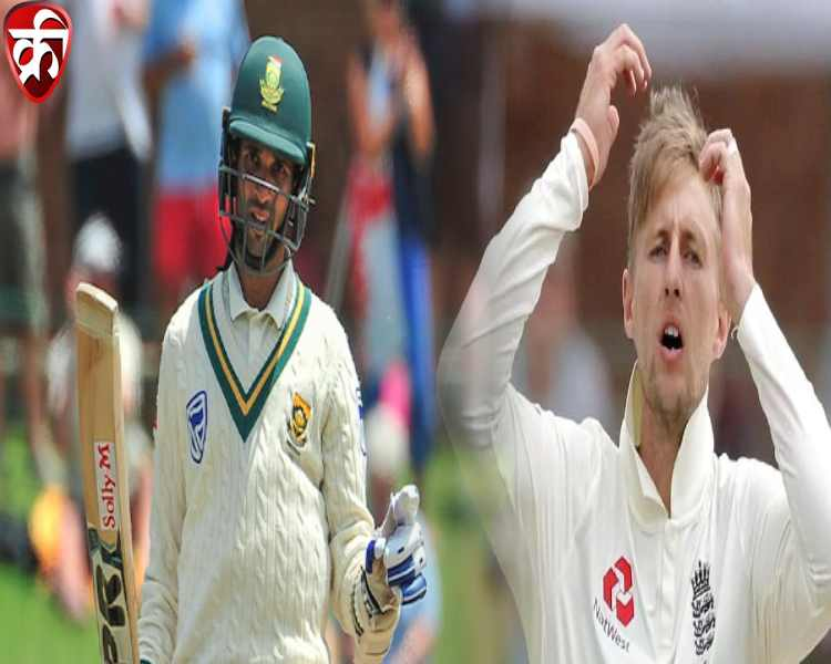 Keshav Maharaj and Joe Root